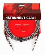 PLANET WAVES Braided Instrumenttikaapeli 6m, musta/harmaa