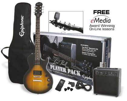 Epiphone Les Paul Player Pack Vintage Sunburst