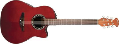 Ovation Applause Balladeer Mid Cutaway Ruby Red AB24-RR