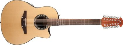 Ovation Applause Balladeer Mid Cutaway 12-string Natural AB2412-4