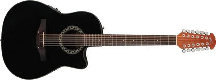 Ovation Applause Balladeer Mid Cutaway 12-string Black AB2412-5
