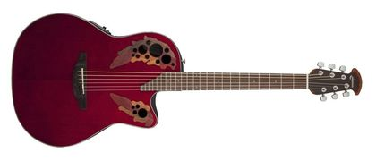 Ovation Celebrity Elite Mid Cutaway Ruby Red CE44-RR