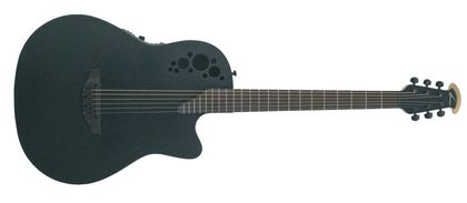 Ovation Elite T Mid Cutaway D-Scale Black Textured DS778TX-5