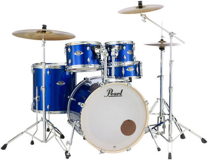 "20"" Pearl Export EXX705 High Voltage Blue w/Stands & Cymbals"