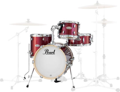 Pearl MDT764P/C704 Black Cherry Glitter 4-PC Shell pack