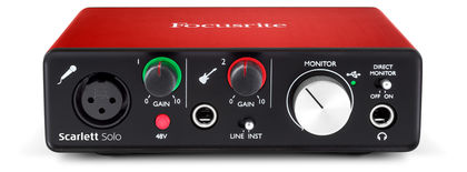Focusrite Scarlett Solo, 2nd Generation USB-audio interface