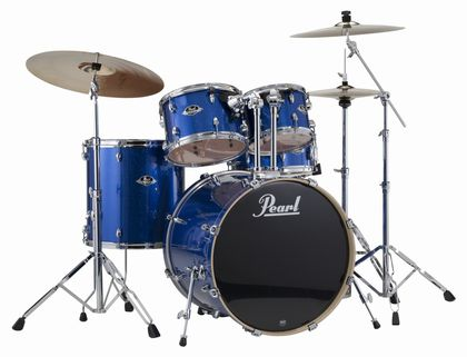 "20"" Pearl Export EXX705 Electric Blue Sparkle w/Stands & Cymbals"